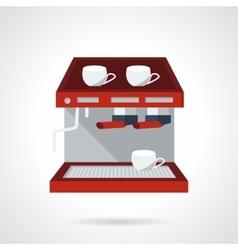 Red espresso machine flat icon vector image