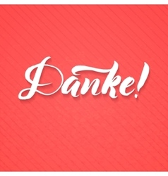 Thank You German Language White Lettering vector image
