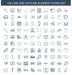 100 element icons vector