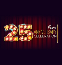 25 years anniversary banner twenty-five vector image