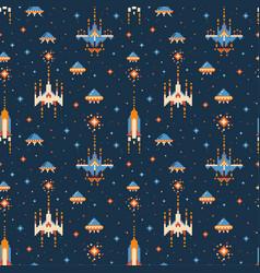 8-bit vintage video game pattern vector image