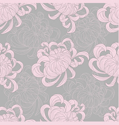 Abstract seamless floral pattern sketch pastel vector
