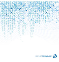 Abstract technology digital data square blue vector