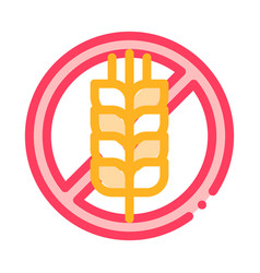 allergen free sign wheat thin line icon vector image