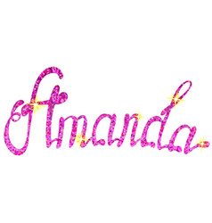 Amanda name lettering tinsels vector