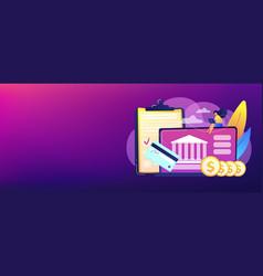 bank account concept banner header vector image