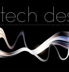 Black Tech Background vector