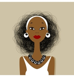 Black woman face for your design vector