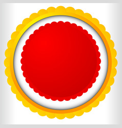 Blank badge rosette cockade icon award prize shape vector