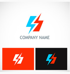 Bolt lighting electric logo vector