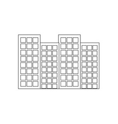 building city urban tower architecture vector image