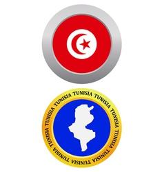Button as a symbol map TUNISIA vector