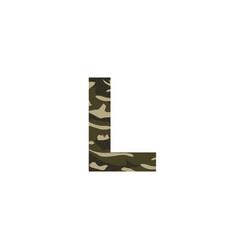 camouflage logo letter l vector image