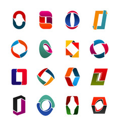 capital o letter shape creative icons for business vector image