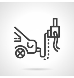 Car emission inspection simple line icon vector