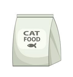 Cat food bag icon cartoon of cat food bag vector
