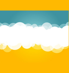 clouds blue yellow background vector image