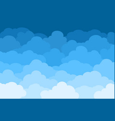 clouds on blue sky background banner vector image