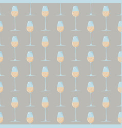 colored abstract seamless pattern with glass of vector image