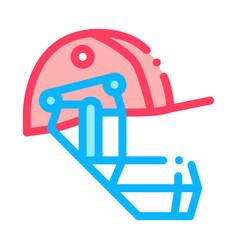 cricket helmet icon outline vector image