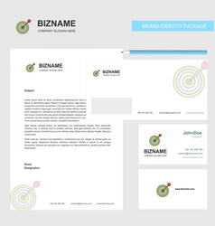 dart game business letterhead envelope and vector image