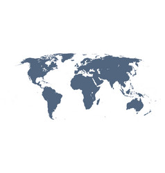 detailed world map vector image