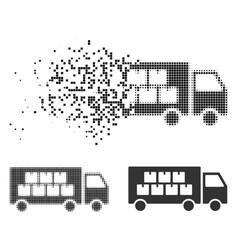 Disintegrating pixelated halftone goods vector