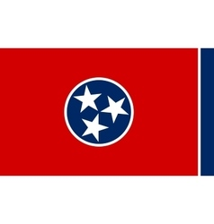 Flag of Tennessee correct size and colors vector image