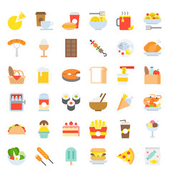 Food and drink icon gastronomy concept flat design vector