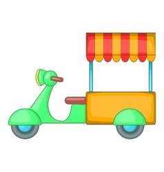 Food cart icon cartoon style vector