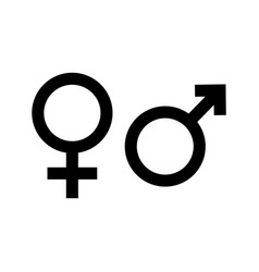 gender icon symbol male female and unisex sign vector image