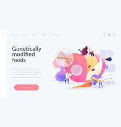 Genetically modified foods landing page concept vector