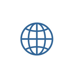 globe global logo vector image