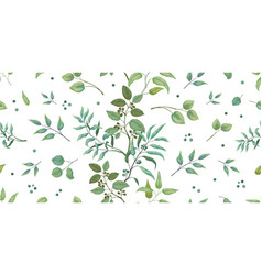 greenery pattern eucalyptus seamless wedding vector image