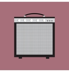 Guitar amplifier icon of the vector image