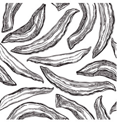 hand drawn dried melon slices sketches seamless vector image