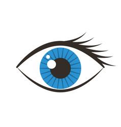 human eye isolated icon vector image