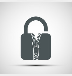 icon door lock with a sewing zipper vector image