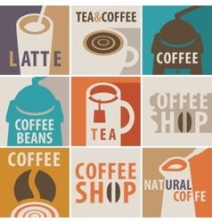 icons on a theme of coffee and tea vector image
