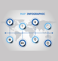 infographic design with map icons vector image