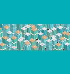 Isometric city vector