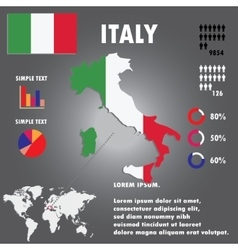 Italy Country Infographics Template vector image