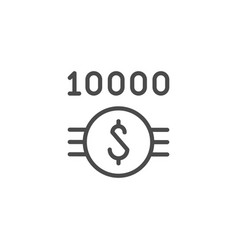 jackpot and profit line outline icon vector image