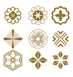 Japanese pattern elements vector