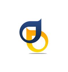 letter d b vector image