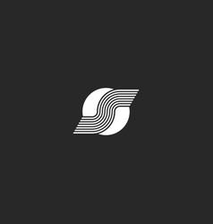 logo s letter on white circle minimal style vector image
