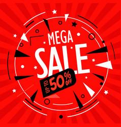 Mega sale up to 50 percent discount vector