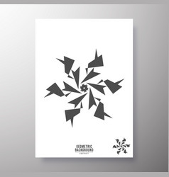 minimal geometric shape design for printing vector image