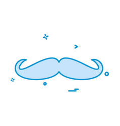 Mustache icon design vector