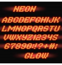 neon glow font vector image
